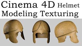 Cinema 4D Helmet Modeling Texturing (Ancient Thracian)
