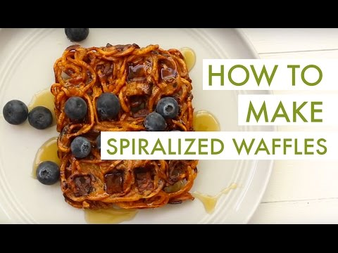 How To Make Waffles with a Spiralizer!