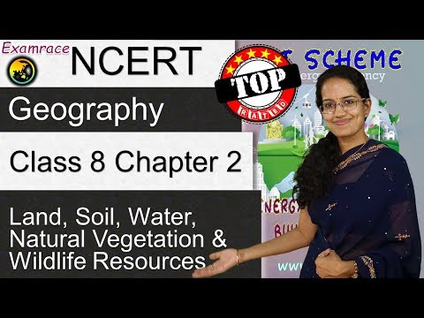 NCERT Class 8 Geography Chapter 2: Land, Soil, Water, Natural Vegetation & Wildlife Resources