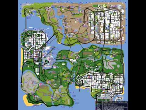 Gta San Andreas Cars Locations In Map