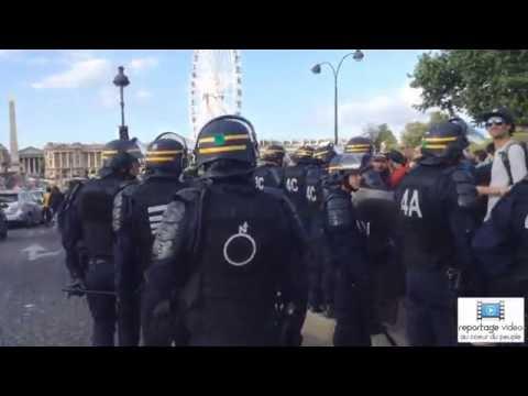 Manifestation sauvage devant l'assemblée nationale / Paris / 5 Juillet 2016