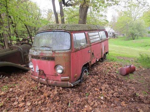 31 years in a field, vw bus, will it run?