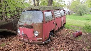 Abandoned Vw Bus Gets Started