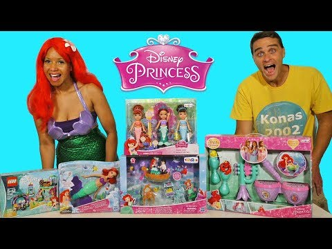 The Little Mermaid Toy Challenge With Ariel ! || Toy Review || Konas2002