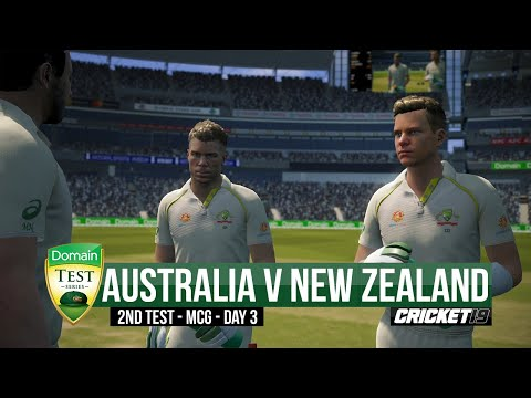 Australia V New Zealand - Boxing Day Test | Day 3 Highlights - Cricket 19