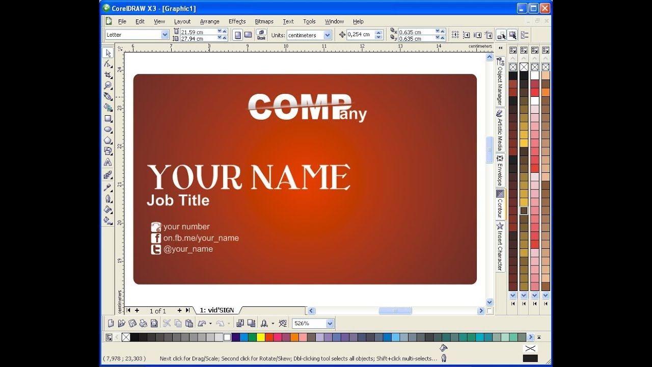 How to design name or business card using coreldraw youtube how to design name or business card using coreldraw reheart Gallery