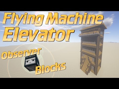 Minecraft Flying Machine Elevator | How to make an Elevator in Minecraft -  Works in 1:12 and TU57
