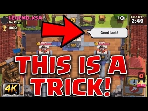 Clash Royale - *SNEAKY TAUNT TRICK!* (+ Deck Builder Program)