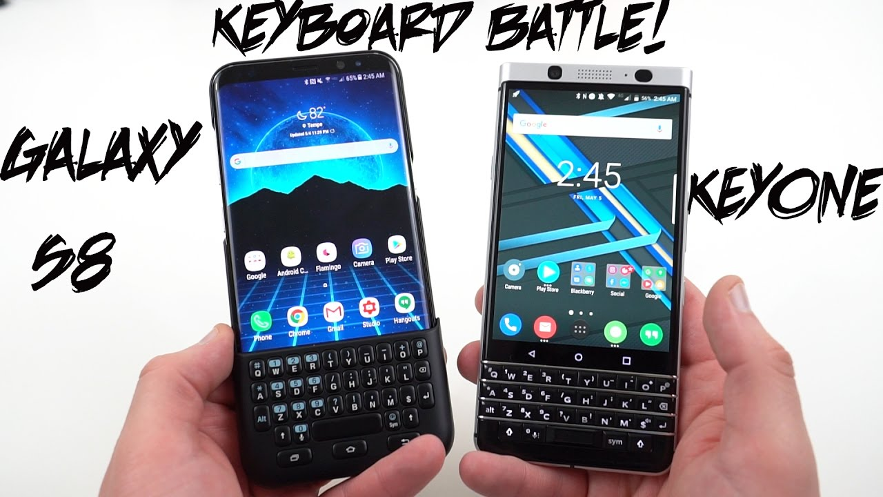 best website 996df 5fb34 Galaxy S8 Keyboard Cover vs Blackberry KEYOne: A Comparison