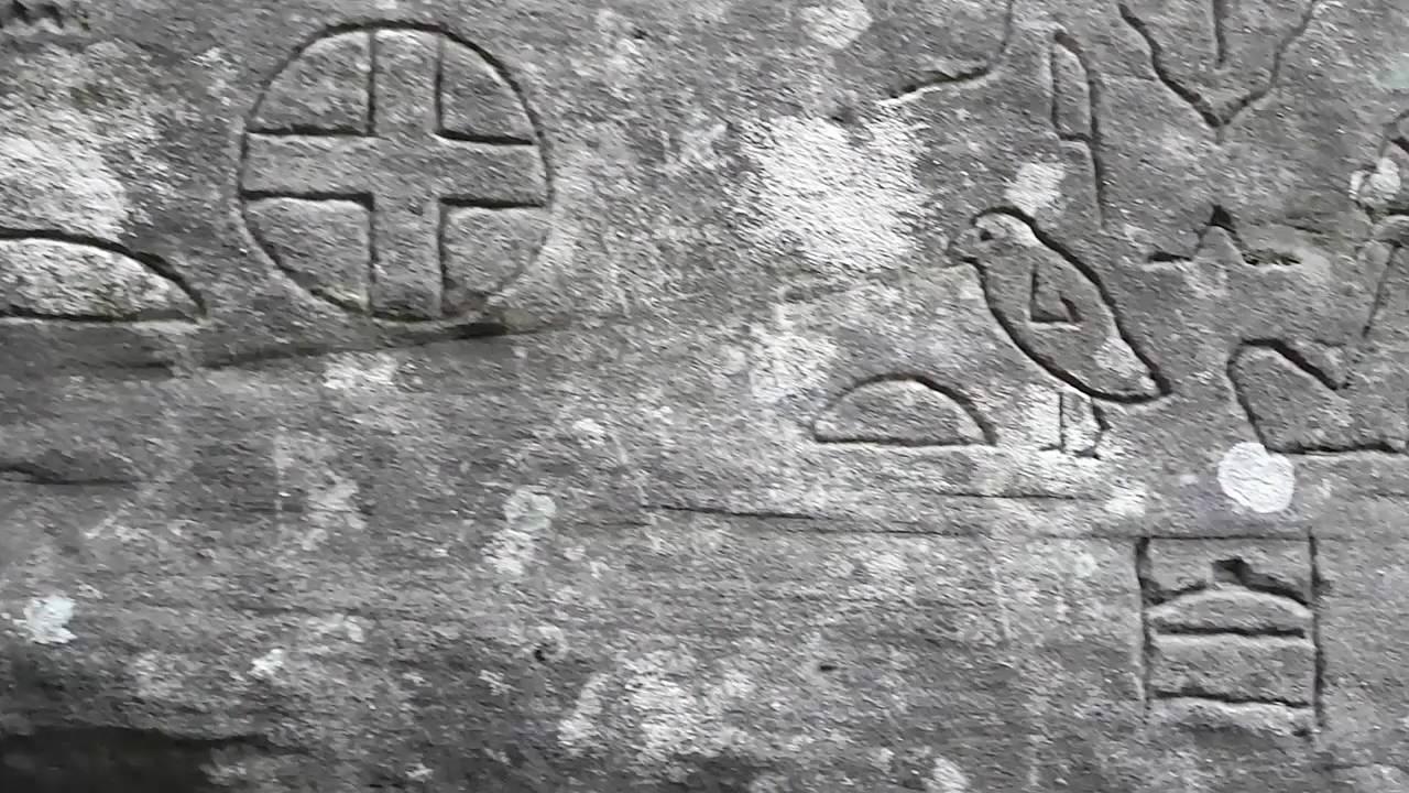 Egyptian hieroglyphs in australia the gosford glyths were