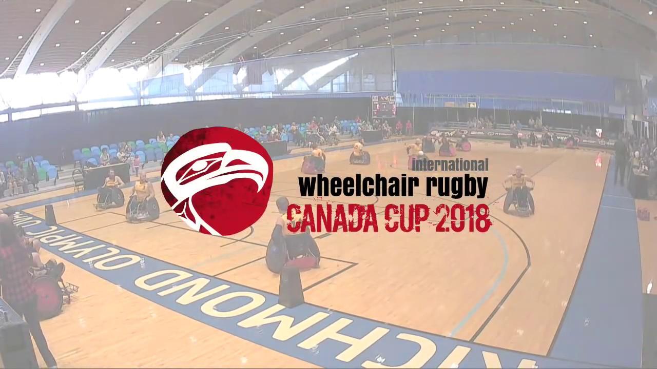 2018 wheelchair rugby canada cup canada vs australia june 16