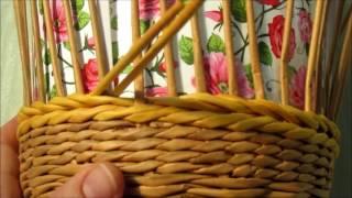 Плетение самовара из газетных трубочек. Урок 2-1.  Плетение стенок.