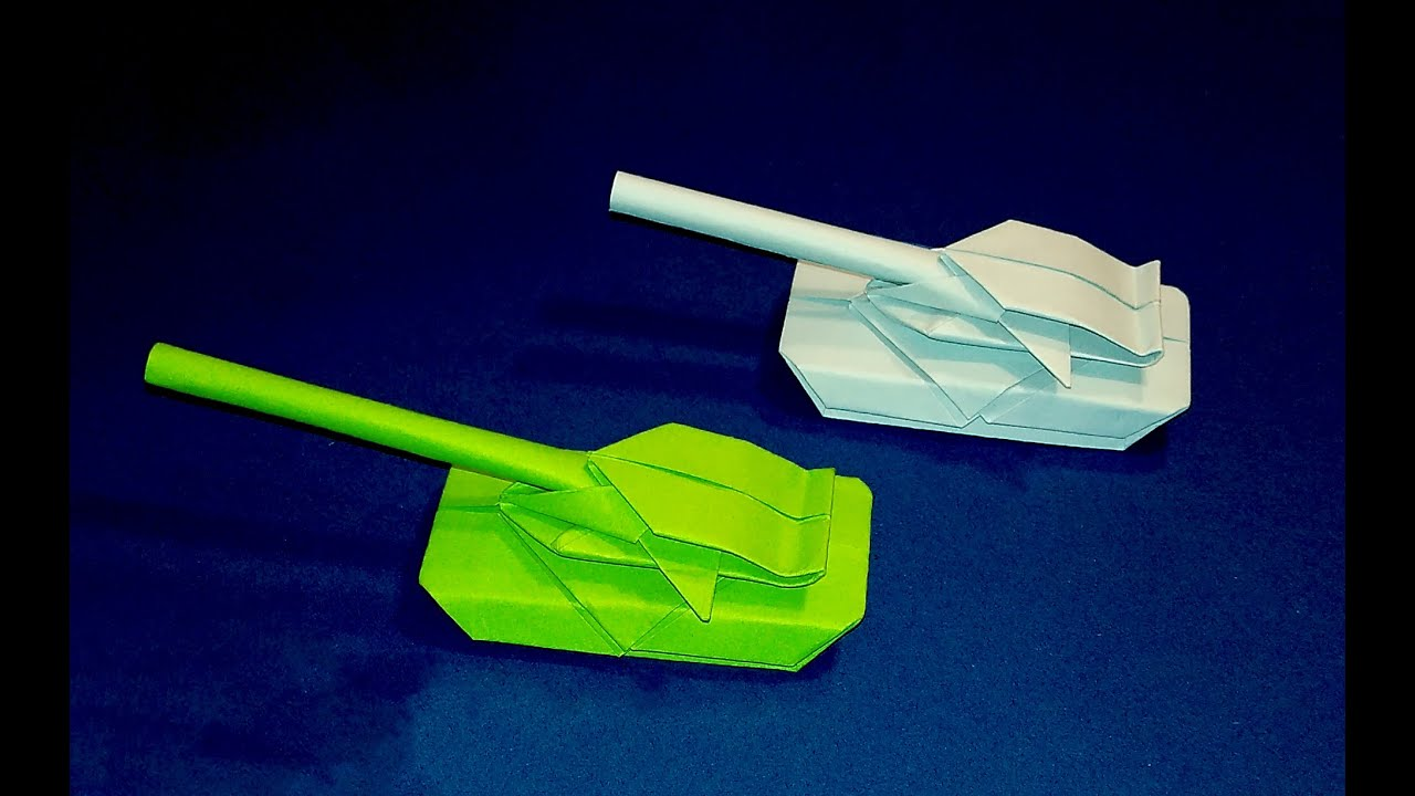 New Origami Tank Best Paper Tank Easy To Do Only 4 Minutes Youtube