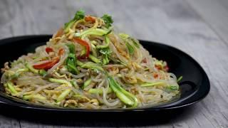 Как готовить корейский салат из крахмальной лапши - Фунчоза