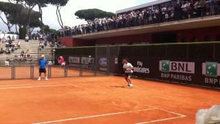 Allenamento Federer, Roma 12 maggio 2013
