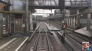 Riding with the train driver from Dordrecht to Den Haag
