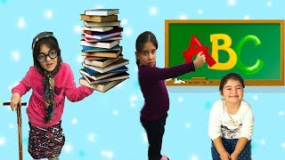 KAYNANA OKULA GİDİYOR ÖĞRENCİ OLUYOR! Go To School - Comedy for kids