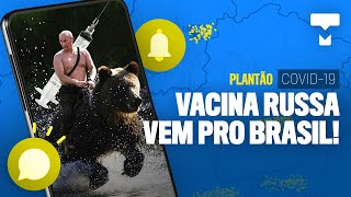 Brasil vai receber vacina da Rússia! - Plantão COVID-19: As boas notícias