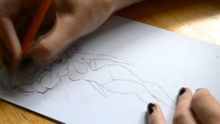 "How I draw Elsa from ""Frozen"" (Swedish commentary)"