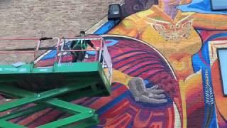Embracing Life - Mural Install 2