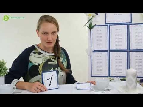 Numerki na stoły weselne i tablica informacyjna