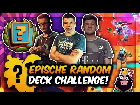 EPISCHE RANDOM DECK CHALLENGE!  BIGSPIN vs. FLOBBY vs. LOAY MIT DEM FISCHER! | Clash Royale Deutsch