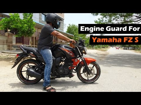 df9192b0354 Yamaha FZ S Engine Guard | Belly Pan | Engine Scoop | Overall Looks | India