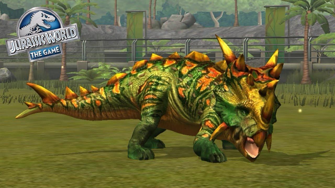 jurassic world the game  pachyrhinosaurus  youtube