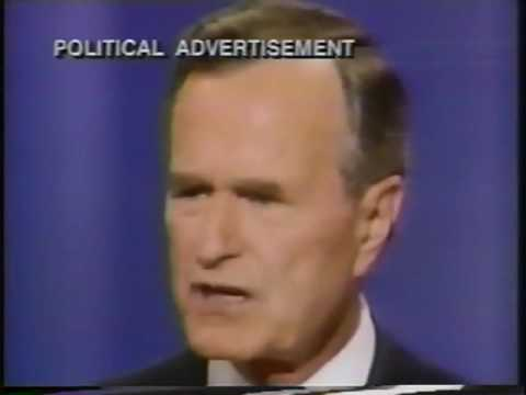 1992 U.S Elections - George Bush Campaign Ads around October