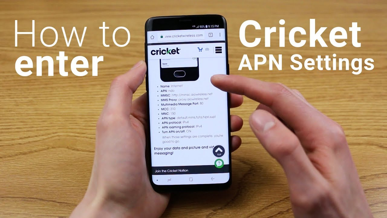 How to Enter Cricket APN Settings on Any Android Phone!
