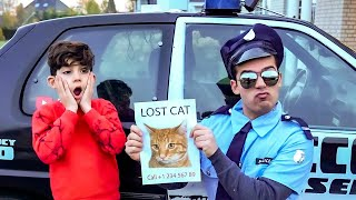 Jason finds lost cat with police
