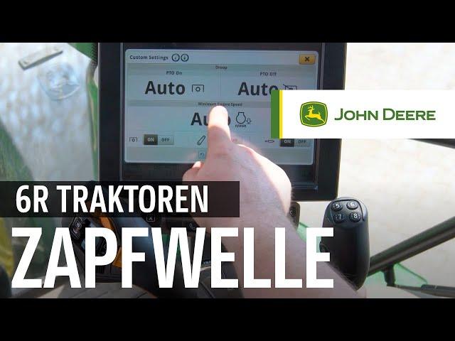 John Deere - CommandPRO - Zapfwelle und Motordrehzahl