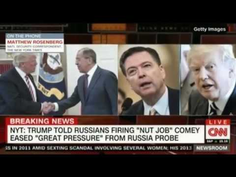 NYT Trump told the Russians that firing Nut Job Comey eased Great Pressure