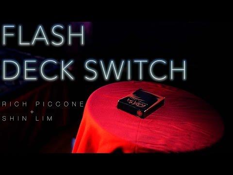 【意凡魔術小舖】舞台魔術 Flash Deck Switch Shin Lim撲克牌換托道具魔術