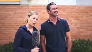 Taylor Kinney, Lauren German on 'Chicago Fire' set