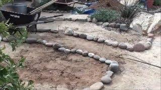 Building A Garden Bed With Rock Border - Arizona Landscaping And Backyard Design