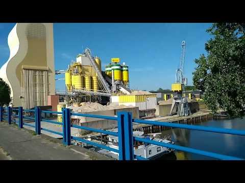 FACTORY PLANT BRIDGE RIVER VIEW EINDHOVEN NOORD BRABANT NETHERLANDS EUROPA