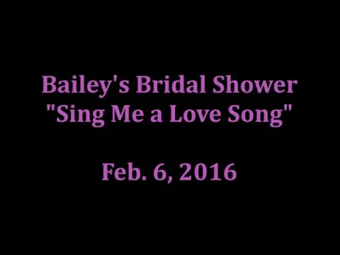 Bridal Shower Song Game