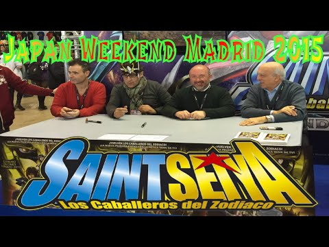 Actores de Doblaje Saint Seiya  Japan Weekend Madrid 2015