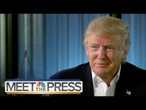Donald Trump On Immigration, Hillary Clinton (Full Interview) | Meet The Press | NBC News