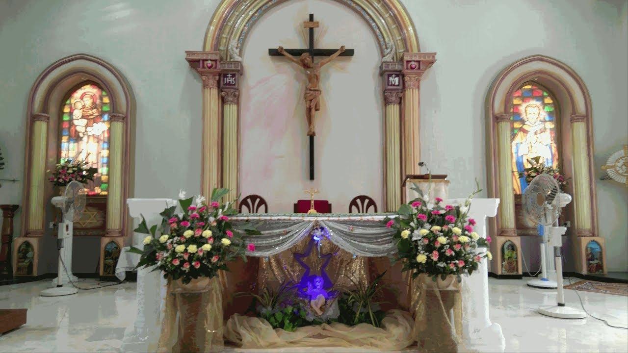 Christmas Crib In Church Altar Youtube
