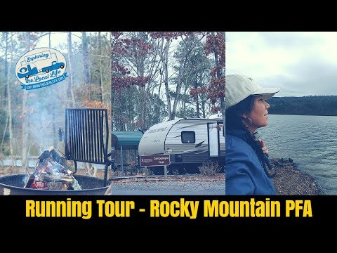 Rocky Mountain Public Fishing Area Campground Running Tour - GA State Park