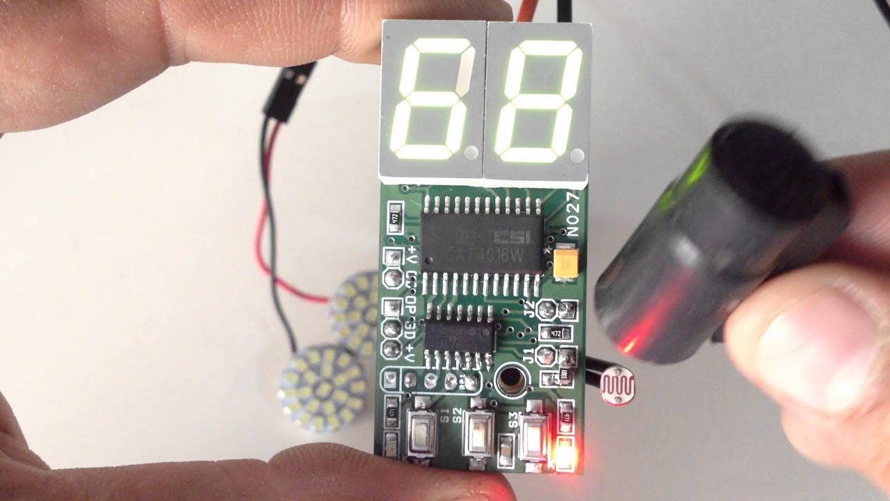 2 Digit Digital Light Sensitive Switch Youtube Two Circuit