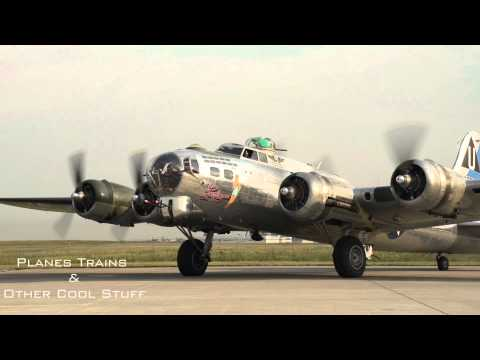 Sentimental Journey... WWII era B17 Flying Fortress start, taxi & takeoff... nostlagia!! pure audio
