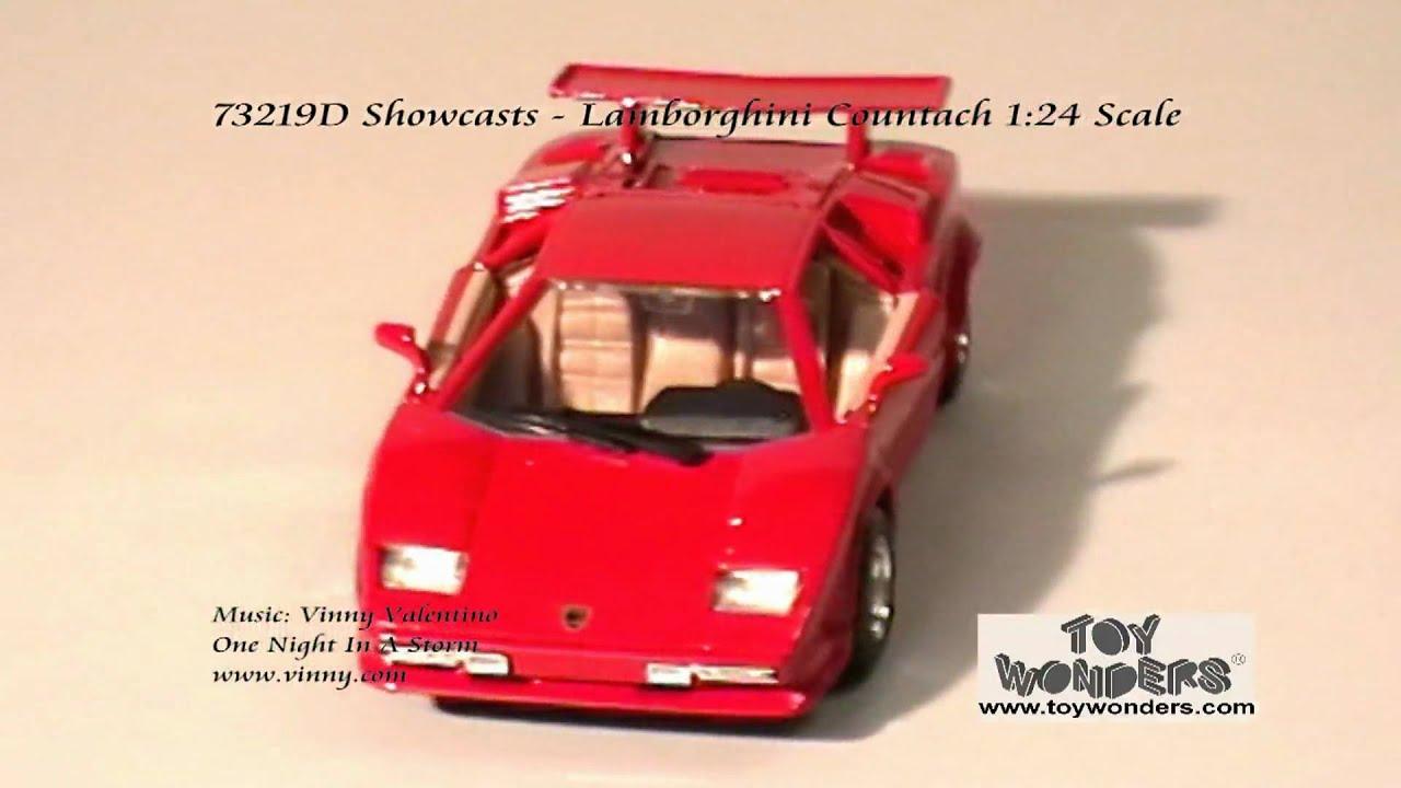 73219d Showcasts Lamborghini Countach 124 Diecast