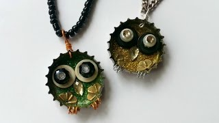 Create Cute Junk Owl Pendants - Diy Style - Guidecentral