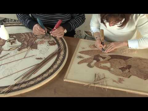 Mosaici Pastore - La tecnica del mosaico in legno - YouTube