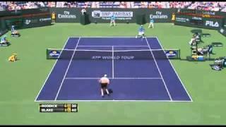ATP 2011 Indian Wells Andy Roddick vs James Blake Highlights