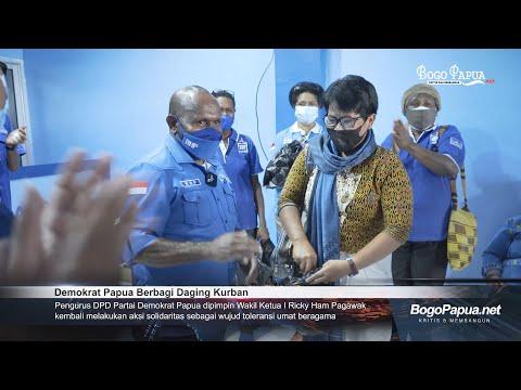 Demokrat Papua Berbagi Daging Kurban
