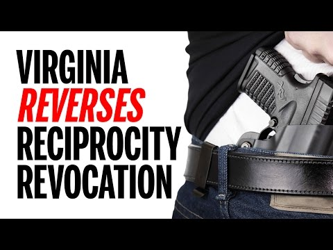 UPDATE! Virginia Concealed Carry Reciprocity Agreements Restored